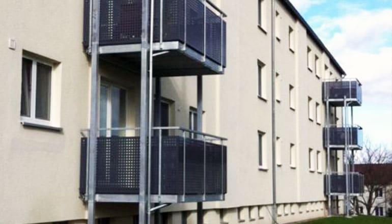 Balkonanlage Stahlbalkone